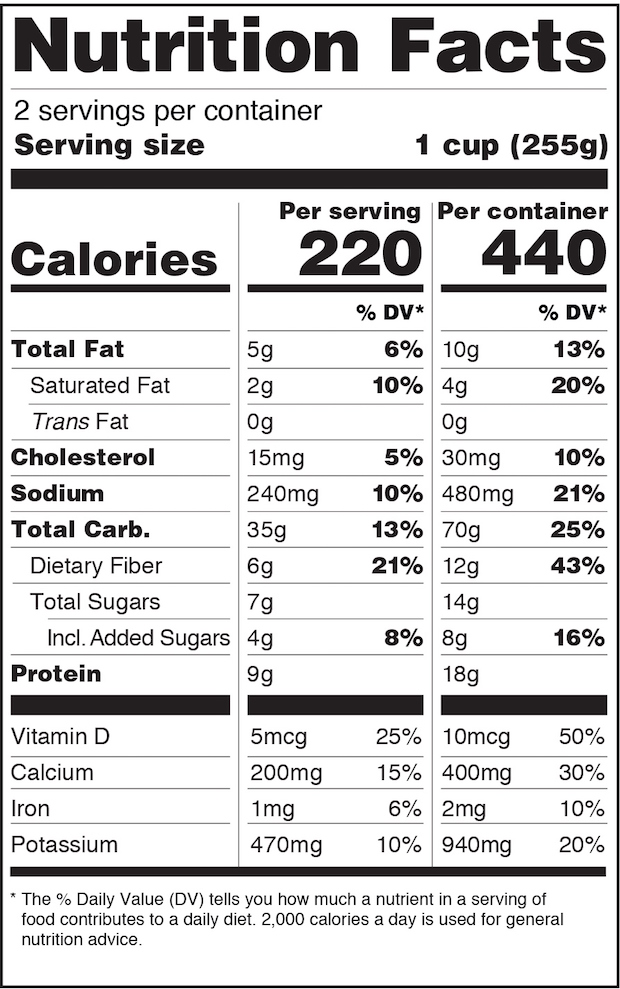 The Nutrition Facts Label Gets A Makeover, And The Label Industry Gets A  Mandate   WhatTheyThink  Ingredients Label Template
