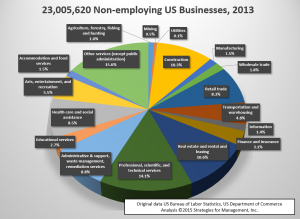 2013 nonemployer pie