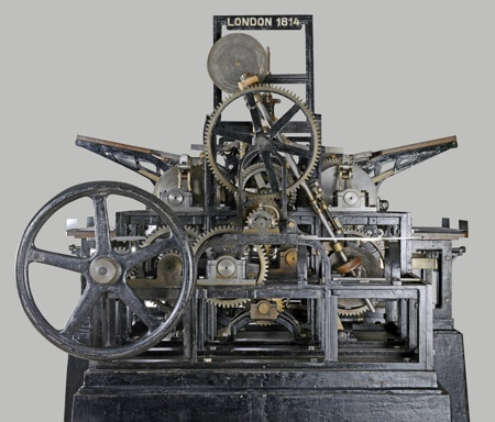 1814 2014 200 years steam driven cylinder printing press